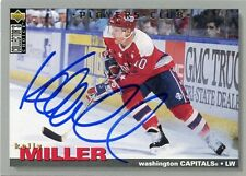 KELLY MILLER CAPITALS AUTOGRAPH AUTO 96 UD COLLECTORS CHOICE PLAYERS CLUB *31364