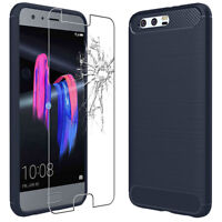 ebestStar Coque Carbone Huawei Honor Play, 10 View/6C Pro/9 Lite + VERRE Trempé