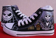 THE NIGHTMARE BEFORE CHRISTMAS HIGH TOPS HAND PAINTED MADE TO ORDER