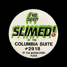 "1984 Ghostbusters I've Been Slimed at The Columbia Suite 3"" Movie Pinback Button"