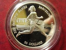 1990 Cook Is Large Silver Proof $50 Olympics Runner