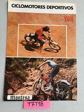 Montesa Cota 49 scorpion 50R Rapita 50 prospectus catalogue publicité brochure