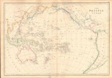 1859  LARGE ANTIQUE MAP - WELLER - THE PACIFIC OCEAN