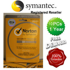 Norton ( Internet ) Security Antivirus All In ONE 10 PCs 1 Year Retail 2018 UK
