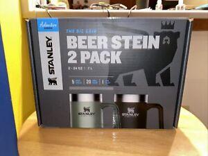 "Stanley ""The Big Grip"" Adventure Series Beer Stein 2 Pack - 24oz Stein 🍺🍺🍺"