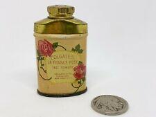 1906 Vintage Sample Tin Colgate's La France Rose Talc Talcum Powder Advertising