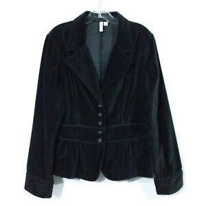 St. John's Bay Women's Black Velvet Jacket Size XL