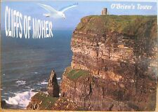 Irish Postcard CLIFFS OF MOHER O'Brien's Tower Ireland Seagull John Hinde 2/387