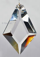 "Huge Faceted KITE 76mm Crystal Clear Prism SunCatcher 3"" Feng Shui"
