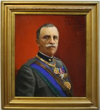 "ANTICO DIPINTO AD OLIO ""RITRATTO VITTORIO EMANUELE III"" 1932"