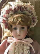 "LARGE 25.5"" Gorgeous Antique Bisque KESTNER ALPHABET ""H"" Doll Blue Sleep Eyes"