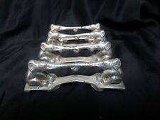ART DECO ELEPHANT SILVERPLATED CUTLERY RESTS HOLDERS SET OF 4 MARKED  RH