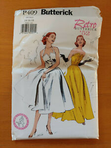 Retro Butterick Sewing Pattern P409 Misses' Dress Size 14 16 18