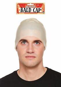 ADULT BALD CAPE HEAD MASK HORROR HALLOWEEN FANCY DRESS PARTY CLEAN HEAD