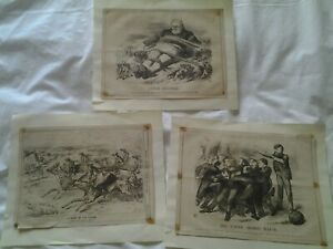 X 3 Punch Cartoons all from 1873