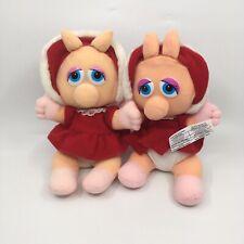 Vintage 1987 Lot Of 2 McDonalds Baby Miss Piggy Plush Toys