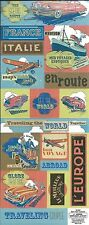 RETRO EUROPE Cardstock Scrapbook Stickers