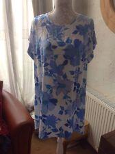 👀Dorothy Perkins 👀 UK14(EU42) Blue Floral Dress Holiday/Party RRP £24 BNWT