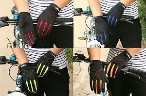 Unisex Full Finger Cycling Gloves Bicycle Sports Outdoor Bike Gloves