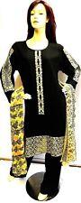 Shalwar kameez eid black pakistani designer salwar sari abaya hijab suit uk 20