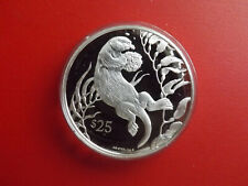 * British Virgin Islands 25 Dollars Silber PP * 1993 WWF* Seeotter (Schub91)