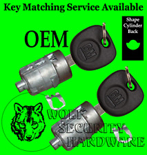 Chevy GMC Others GM OEM Door Key Lock Cylinder Tumbler Pair 2 Keys 702912