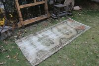"Vintage Handmade Turkish Anatolian  Distressed Office Area Rug  6'11""x3'"