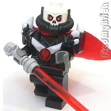 SW277 Lego Sith Lord Custom Minifigure with Cape & Lightsaber NEW