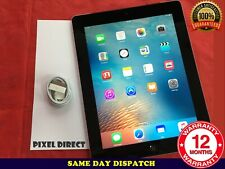 """Perfecto Apple iPad 3 3rd generación 16GB Wifi 9.7"""" Negro Plata Retina iOS 9-Ref 63"""