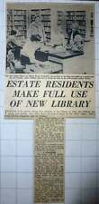 1960 New Public Library In Jefferies Rd Stockwell Miss Mary Reed