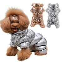 Small Dog Winter Jumpsuit Down Jacket Puppy Cat Warmer Coat Waterproof Clothes