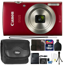 Canon PowerShot IXUS 185 / Elph 180 20MP Compact Digital Camera Red Bundle