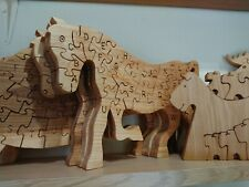 Hand made wood puzzle toy for children, ecologically clea, educational boards