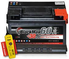 Autobatterie 12V 60Ah 570 A/EN BlackMax 60 ersetzt 56 61 62 63 64 65 66 67 70 AH