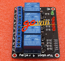 5V Four 4-Channel Relay Module For PIC AVR DSP ARM MSP430 Arduino TOP