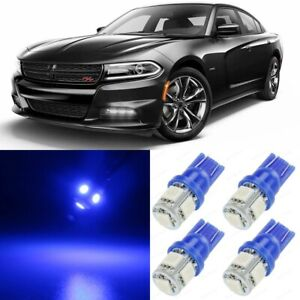 17 x Ultra BLUE Interior LED Lights Package For 2015 - 2019 Dodge Charger +TOOL