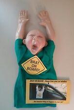 VTG CLOWN ALLEY Brat Baby On Board Doll Gag Joke Prank Creepy Prop