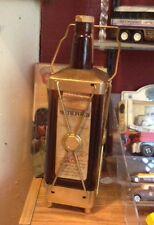 Tilford Whiskey Bottle Swiss Music Box O'Brien Portville Liquor Store NY Vtg Adv