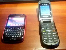 Samsung Flip Phone & A Blackberry Curve 8530 - Both Prev Verizon & Unlocked!