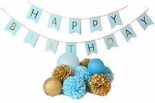 Birthday Party Decoration Happy Birthday Bunting Banner Pom Poms lantern
