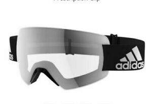 Adidas Mens Ski Goggles Progressor Splite AD85/75 9200 Black Frame Clear Lenses