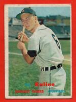 1957 Topps #125 Al Kaline VG-VGEX Hall of Fame Detroit Tigers FREE SHIPPING
