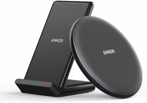 Anker Qi Wireless Charger Bundle PowerWave Pad & Stand for iPhone 12 Galaxy S20