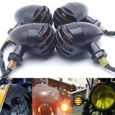 4x Ambre Clignotants Mini Noir Bullet Lumineux clignotant Pour Moto Harley Honda