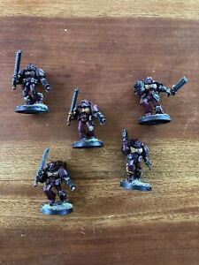 Warhammer 40k Space Marines Army Blood Angels OOP Metal Assault Squad 5 Models