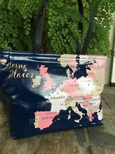 """LAST ONE! KATE SPADE NEW YORK """"GOING PLACES - FRANCIS"""" WORLD TRAVEL TOTE, NWT!"""