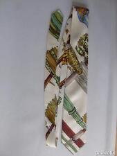 "Hermes Paris Men's Classic Multi Colour 100% Silk Tie 56"" Post Worldwide Free!!C"