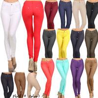 Colorful Jeggings Stretchy Skinny Soft Leggings Pencil Pants S~3XL PLUS Yoain