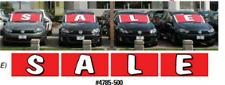 CAR DEALER  WINDSHIELD BANNER  BUCKO ~ SALE (red/white)