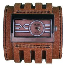 EOS Caseology Brown Leather Metro Wrist Watch